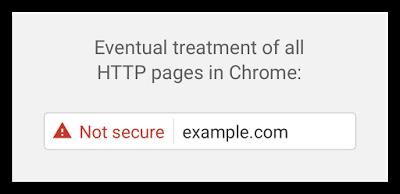 Chrome 最終會將所有無SSL網站標示為不安全的網站